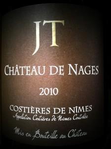 Chateau de Nages Cuvée JT Costières de Nimes 2010