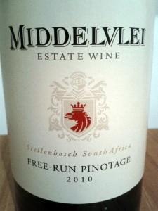Middelvlei, free-run Pinotage, 2010
