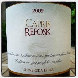 Capris Refošk Vinakoper Slovenska Istra 2009