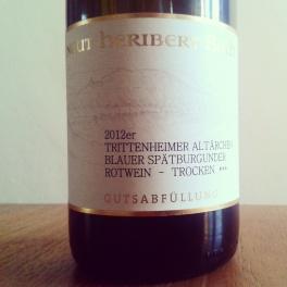 Weingut Heribert Boch Trittenheimer Altärchen Spätburgunder 2012